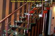 Стеклянные лестницы. фото